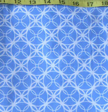 "FABRIC - JO-ANN QUILT BLOCKS ""INDIGO SQUARE"" BLUE LATTICE 100% COTTON 1.25 YDS"