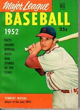1952 Major League Baseball Facts & Figures magazine, Stan Musial, Cardinals ~ Gd