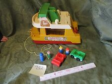 Vintage 1979 Fisher Price Little People Ferry Boat 932 Play Family Toy Set
