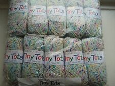 500g Sirdar Tiny Tots DK Knitting Yarn in White Colour Speck