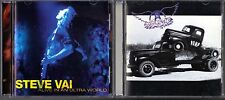Alive in an Ultra World by Steve Vai (CD, 2 Discs) & Pump by Aerosmith (CD)