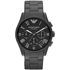 NEW EMPORIO ARMANI MENS GENUINE BLACK MATT CERAMIC WATCH - AR1457 - RRP £499