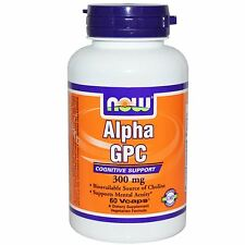 Now Foods, Alpha GPC, 300 mg, 60 Vcaps, Supports Mental Acuity