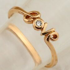 Size 6 True For Love White CZ Gems Jewelry Rose Gold Filled Lady Gift Ring R2282