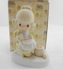 Precious Moments Figurine 3106 Mother Sew Dear Mom Needlework 1979 NEW