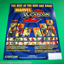 Capcom MARVEL VS CAPCOM 2 New Age Of Heroes Original NOS Video Arcade Game Flyer