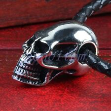 Men's Heavy Stainless Steel Skull Head Charms Pendant Bead Jewelry For Necklace