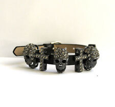 Butler and Wilson Pewter SMALL Skull Cross Bracelet NEW