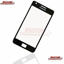 Per Samsung Galaxy s2 SII Glass Panel Disco Frontale Vetro Display Nero Black