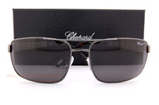 New Chopard Sunglasses SCH A58 614P Gunmetal/Solid Grey For Men