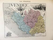 LA FRANCE ET SES COLONIES DÉPARTEMENT DE LA VENDEE EDT 1874 VOIR DETAIL