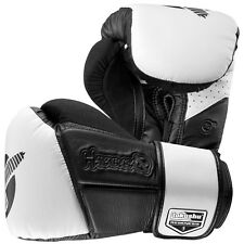Hayabusa Tokushu Regenesis Boxing Gloves 16 oz (Black/White) - sparring mma