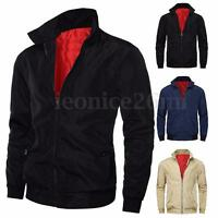 INCERUN Men's Vintage Winter Classic Zip Scooter Bomber Top Jacket Coat Outwear