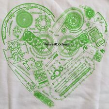 iRobot Promotional White and Green Large T-Shirt, We Are iRoboteers