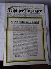 Triptiser Anzeiger, Sonderausgabe zur 600 Jähr Stadtrechtsfeier 1928 (Adressbuch