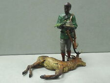Antique Bergmann Cold Painted Bronze Hunter and Stag Signed Namgreb 3834 Rare
