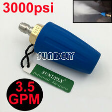 "3.5 GPM Blue 1/4"" Quick Connect High Pressure Washer Turbo Nozzle Tip 3000PSI"