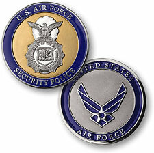 U.S. Air Force / Security Police - USAF Nickel Challenge Coin