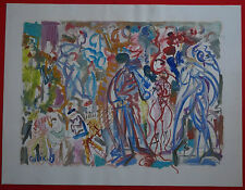 "ROBERT CALIX (1919/2008)  Gouache - "" COMPOSITION  AU CIRQUE ""  Signé"