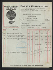 """PARIS (XI°) USINE de RADIATEURS PARABOLIQUES MAX SIEVERT """"MARKT & Co"""" en 1934"""