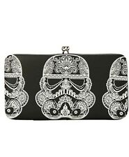 Star Wars Disney Day Of The Dead Stormtrooper Kisslock Hinge Wallet NWT!