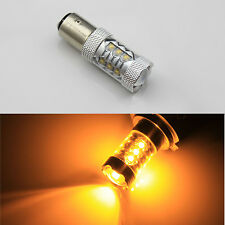 2x 80W Bau15s 150° 7507 PY21W High Power CREE LED Turn Signal Light Bulb  Amber
