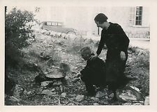 ÎLE DE MAJORQUE c. 1935 -Préparation du repas  Monastère de Lluc Espagne - P 503