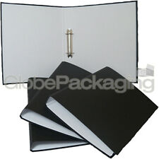 5 x STRONG BLACK A4 SIZE RING BINDER FILES RINGBINDERS