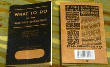 WW11 - What to Do In Any War Time Emergency - Booklet - Replica - WW2 - History