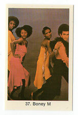 1970s Swedish Pop Star Card #37 German disco group Boney M