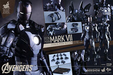 HOT TOYS AVENGERS IRON MAN MARK 7 VII STEALTH MODE 1:6 FIGURE ~Sealed Brown Box~
