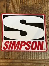 Simpson NHRA NASCAR Racing Car Hot Rod Race Toolbox Mechanic Decal Sticker Drags