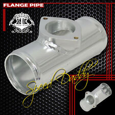 "TYPE-S/RS 2.5"" ALUMINUM TURBO BLOW OFF VALVE FLANGE PIPE/PIPPING ADAPTOR SILVER"