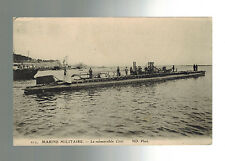 Mint WW 1 France Navy U Boat Submarine Ciree in Port Real picture Postcard