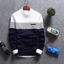 Korean Fashion Cardigan Jacket Jumper Men Knit Pullover Coat Long Sleeve Sweater