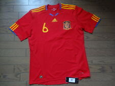 Spain #6 Iniesta 100% Original Soccer Jersey Shirt L 2010 Home Still BNWT