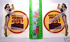 Pair LGE Vintage Mercury Gottlieb Strength Grip Tester Machine Waterslide Decals