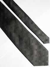 Roffe CM gold SERIES 100% Silk Tie Grey,Contrasting Diagonal Squares/Rectangles