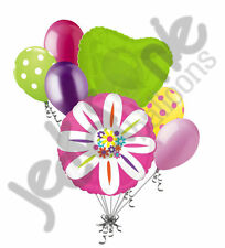 7 pc Colorful Daisy Flower Happy Birthday Balloon Bouquet Birthday Baby Shower