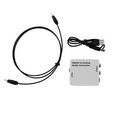 Digital Optical Toslink Coax to Analog R/L/RCA Audio Signal Converter Adapter MC
