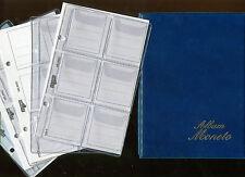 album tascabili per monete con 5 inserti in cristal e supporto in carta bianca
