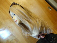 Malky European Multidirectional  Hair Long Wig Sheitel Blonde Highlight 24/14/12