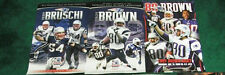 5 POSTER LOT MCGINEST BRUSCHI LIGHT 2 TROY BROWN FAULK GRONK GRONKOWSKI PATRIOTS