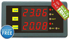 DC 0-200V 0-50A Voltage Current Amper Hour Power Combo Meter 5-40V No Need Power