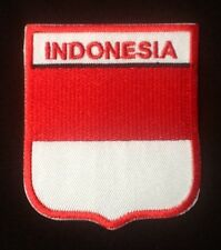 INDONESIA INDONSIAN NATIONAL COUNTRY FLAG BADGE IRON SEW ON PATCH CREST SHIELD