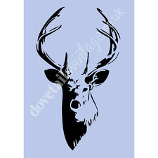 Stag A3 Stencil Shabby Chic French Wall Furniture Fabric Glass Re-usable 038A3