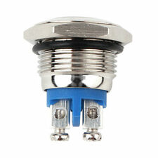 16mm Anti-Vandal Momentary Stainless Steel Metal Push Button Switch Raised Top