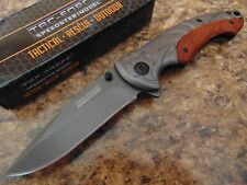 """8.3"""" Tac Force Ti Coated Stainless Steel Spring Assisted Folding Pocket Knife"""