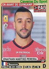M12 JONATHAN MARTINS PEREIRA # EAG GUINGAMP UPDATE STICKER PANINI FOOT 2016
