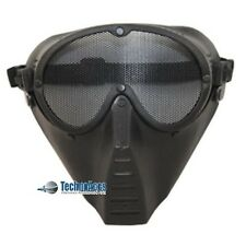 Black Metal Mesh Protective Airsoft Paintball Tactical Full Face Google Mask New